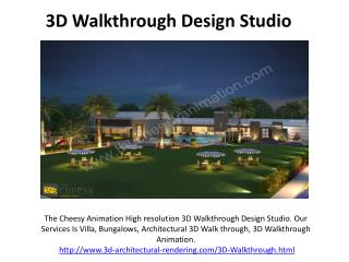 3D Walkthrough  Animation Studio