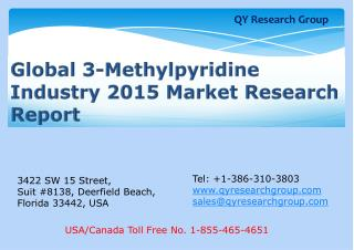 Global 3-Methylpyridine Industry 2015 Market Research Report