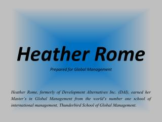 Heather Rome_Prepared for Global Management