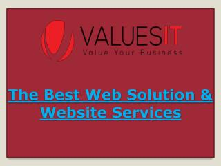 The Best Web Solution & Website Services