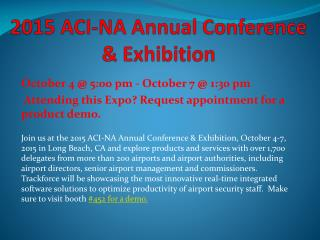 2015 ACI-NA Annual Conference & Exhibition