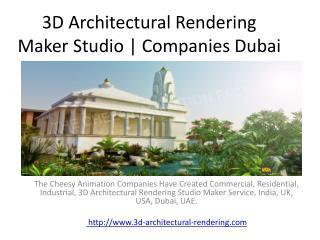 3D Architectural Rendering Studio | Design Companies Dubai