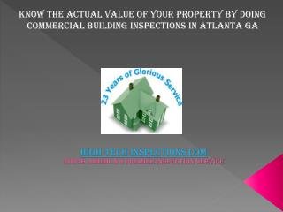 Know the actual value of your property by doing Commercial B