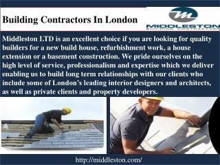 Buildin Contractors in London
