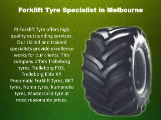 Forklift Tyre Specialist in Melbourne