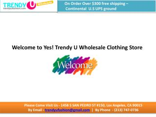 Buy wholesale womens clothes online