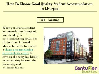 How to choose good quality Student accommodation in Liverpoo