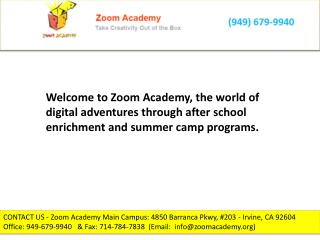 Summer camps for kids  zoom academy.org