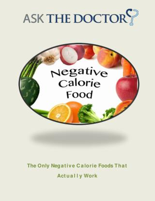 The Negative Calorie Myth