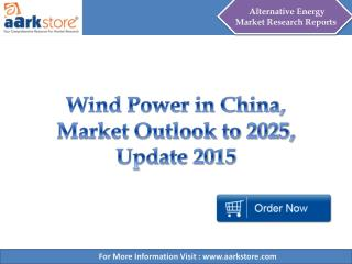 Wind Power in China, Market Outlook to 2025 - Aarkstore.com