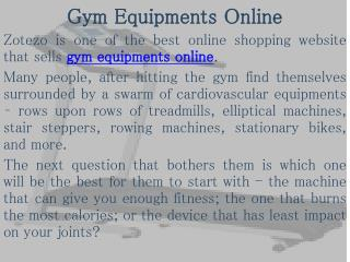 Fitness Equipment Online