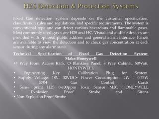 Solas Marine - H2S Safety Systems in Dubai
