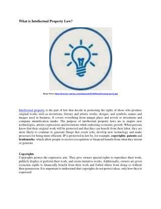 Definition of Intellectual Property Law