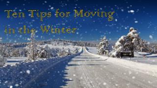 Ten Tips For Moving In The Winter