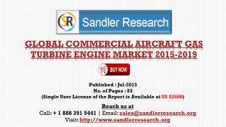 World Commercial Aircraft Gas Turbine Engine Market Research Report 2015 – 2019