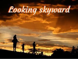 Looking skyward