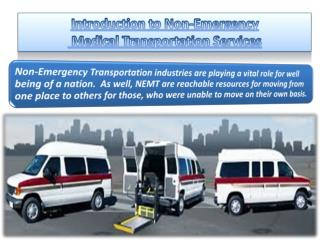 Introduction to non emergency Ambulance Transportation