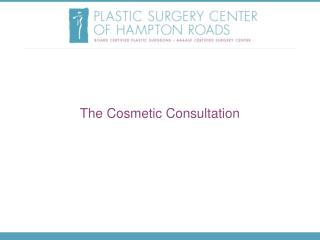 The Cosmetic Consultation