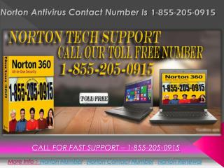 Norton antivirus Contact Number 1-855-205-0915 toll free
