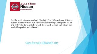 Used Cars for sale in Elizabeth city