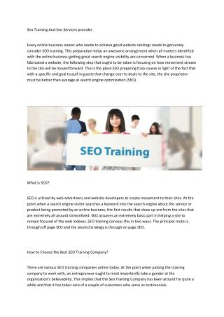 SEO Training Surat