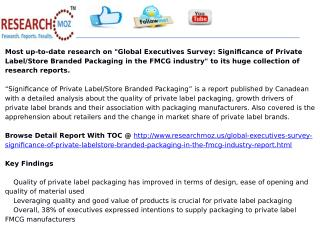 Global Executives Survey: Significance of Private Label/Store Branded Packaging in the FMCG industry