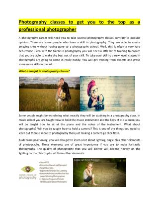 Photography Programs