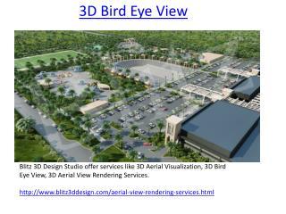 3D Aerial Visualization |  Aerial View  | Bird Eye  | Rendering