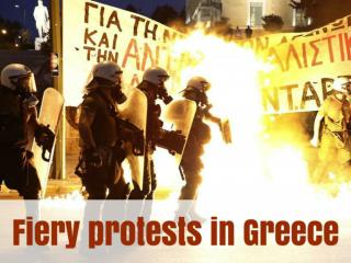 Fiery protests in Greece