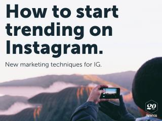 How to Start Trending on Instagram