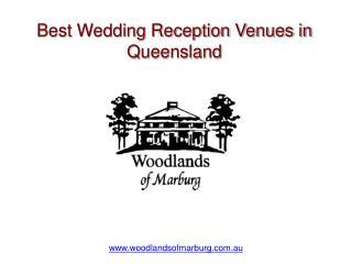 Best Wedding Reception Venues in Queensland