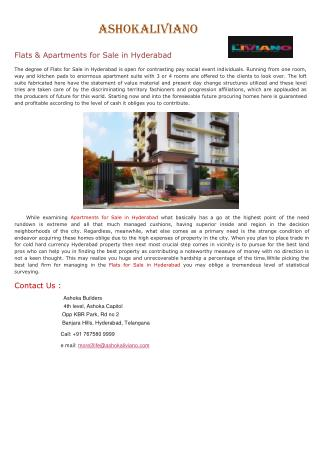 Flats for Sale in Hyderabad.