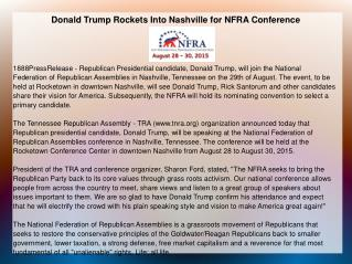 Donald Trump Rockets Into Nashville for NFRA Conference