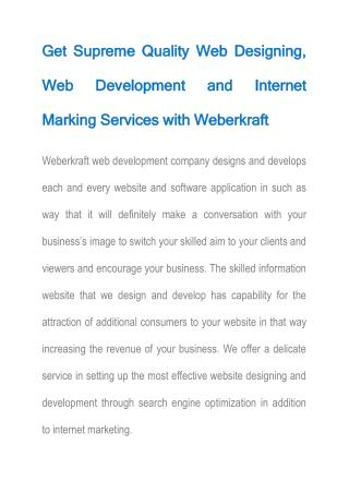 Weberkraft  Website Development Company Ludhiana, Industrial Training