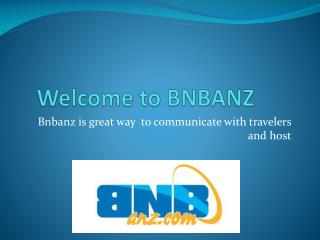 Welcome to bnbanz