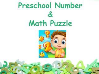 Preschool Number & Maths Puzzle