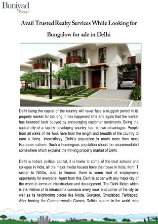 Villas for sale in Delhi