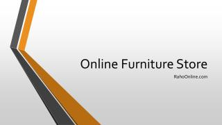 Online Furniture Shopping Store in India