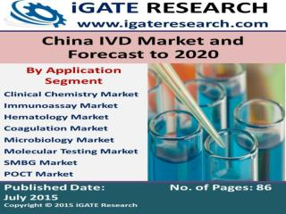 China IVD Market and Forecast to 2020