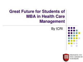 MBA for Pharmacy Graduates, MBA in Health care Management