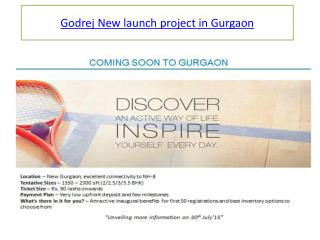 Godrej New launch project in Gurgaon