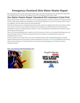 Water Heater Repair Cleveland OH