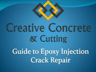 Epoxy Injection Crack repair