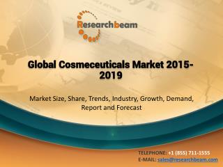 Global Cosmeceuticals Market Trends, Growth & Opportunities 2014 to 2018