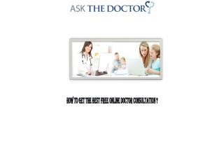 How to get the best free online doctor consultation?