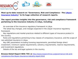 Governance, Risk and Compliance - The Libyan Insurance Industry