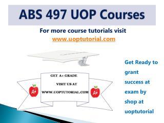 ABS 497 ASH TUTORIAL / Uoptutorial