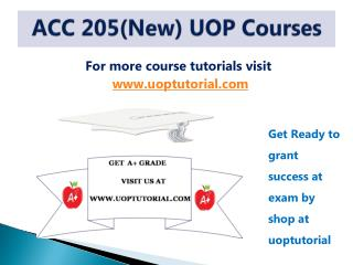 ACC 205 New TUTORIAL / Uoptutorial