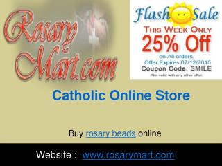 Get Casual and Fine Rosary at Catholic Online Store